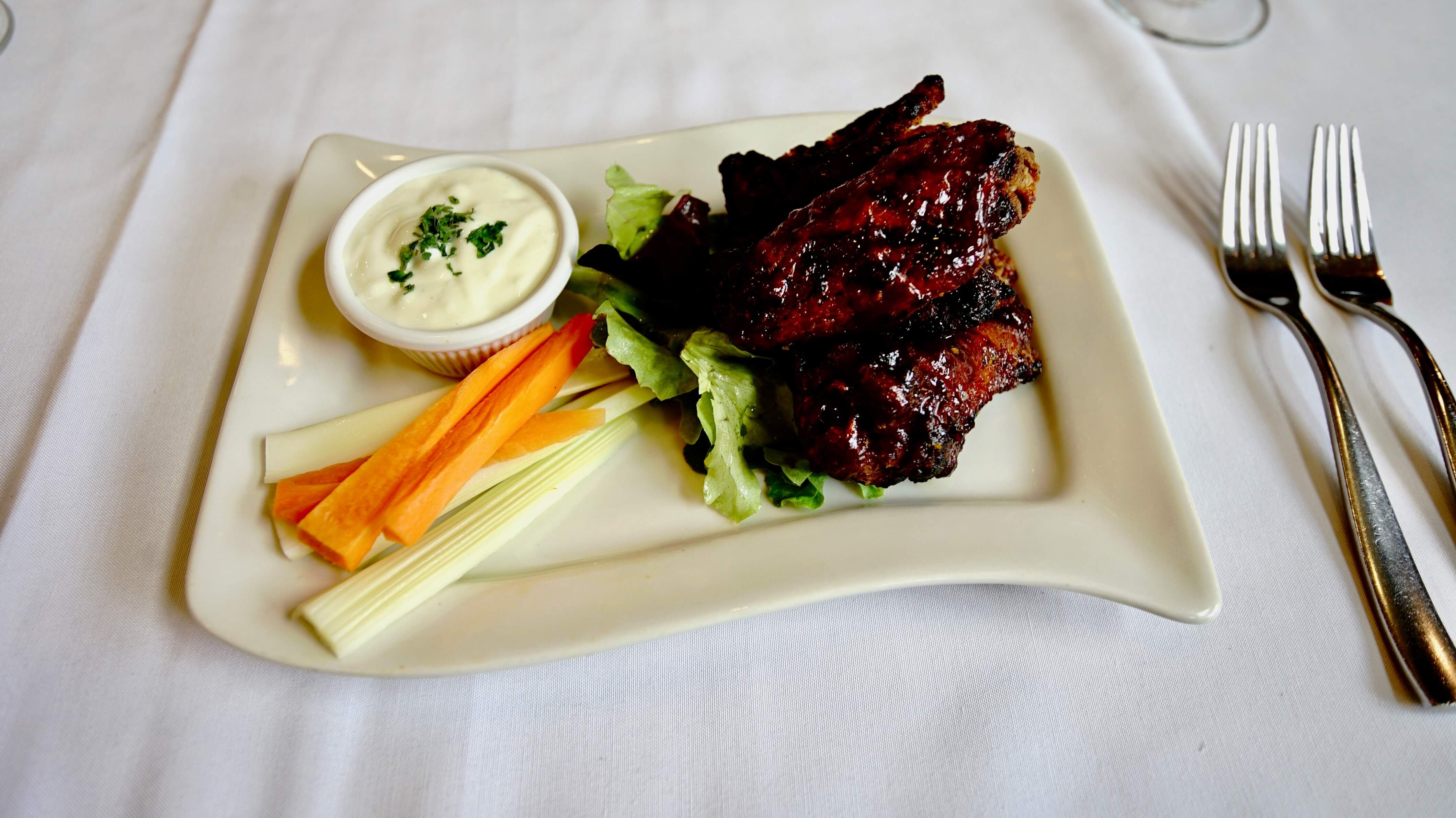 Mediterranean Grill barbecue wings